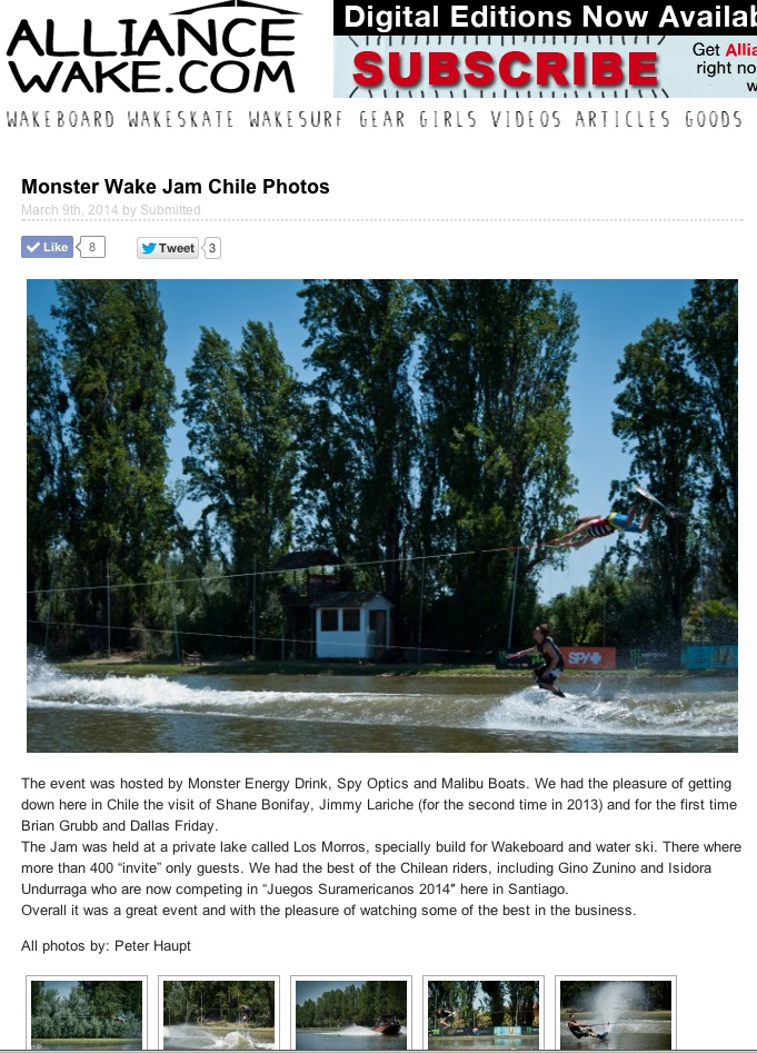 Alliance wakeboard mag publication