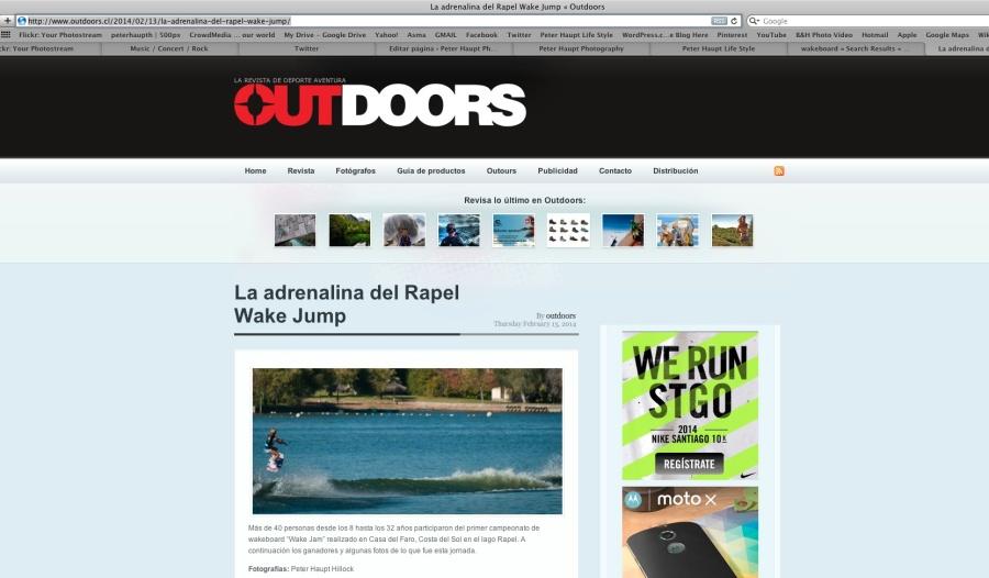 Revista Outodoors Rapel Wake Jam