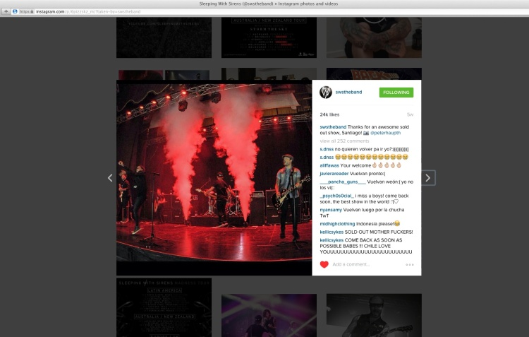 SWS 24K my photo on Instagram